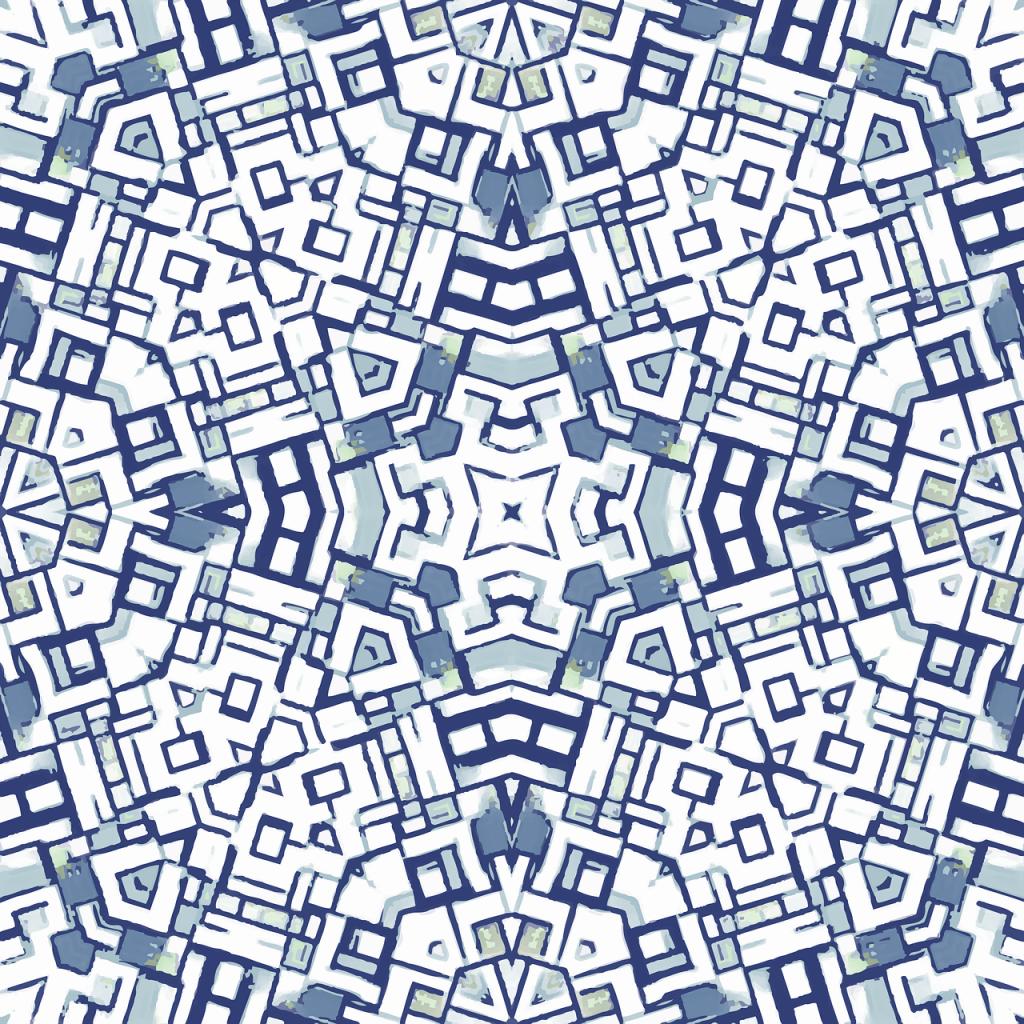 blue, seamless, tile