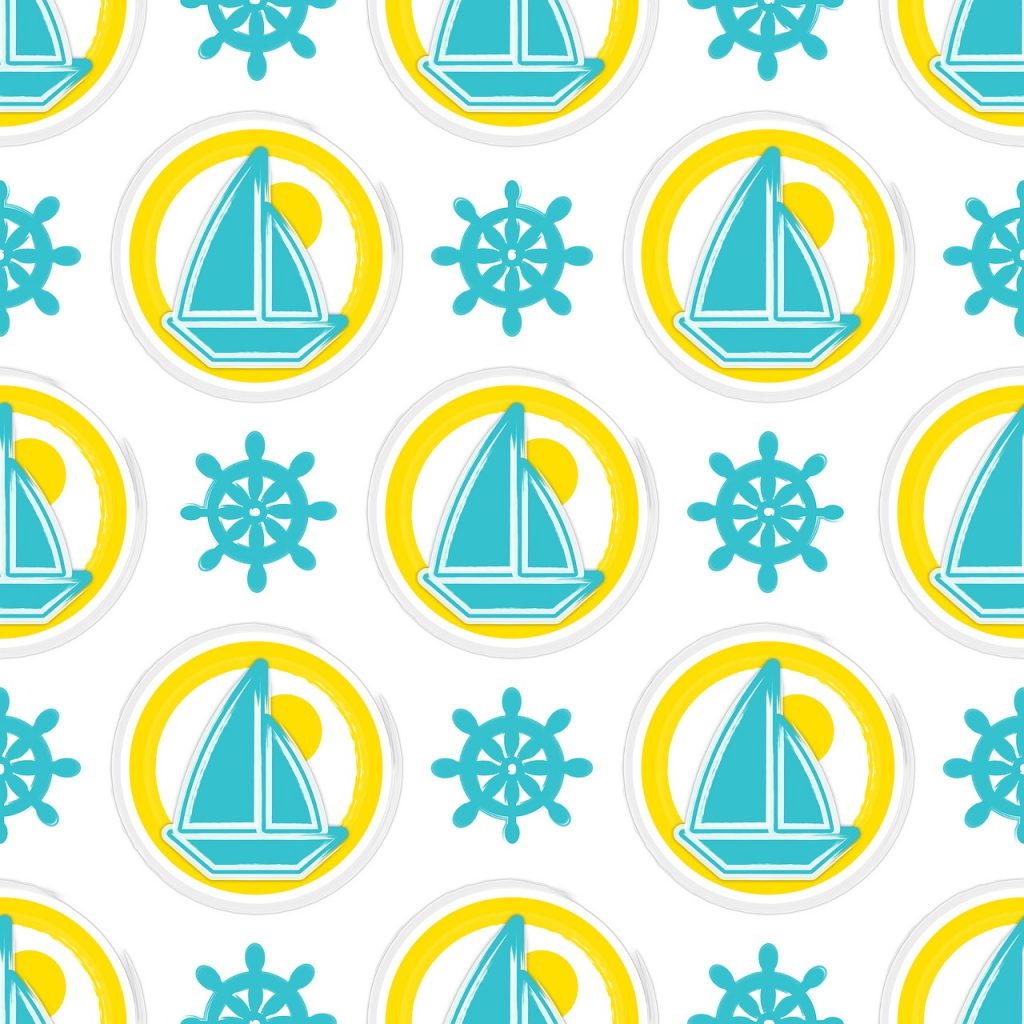 seamless pattern repeat, disc-shaped, tileable patchwork